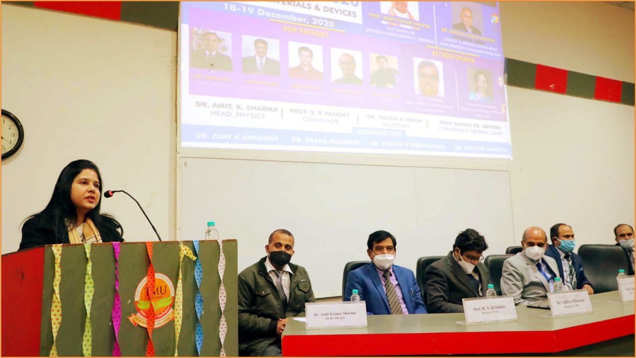 National Conference on Materials and Devices -2020 at TMU