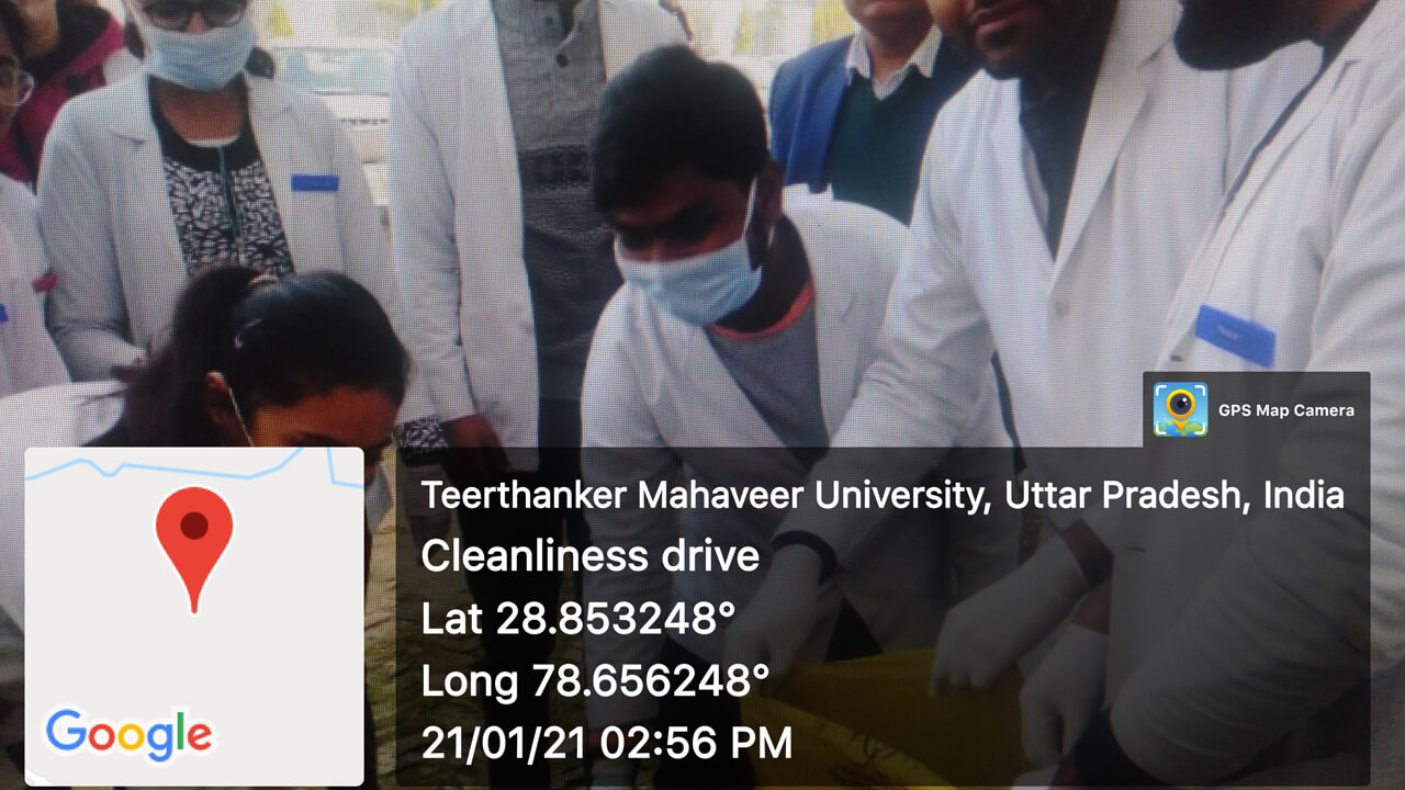 Cleanliness drive carried out by TMDC&RC Students