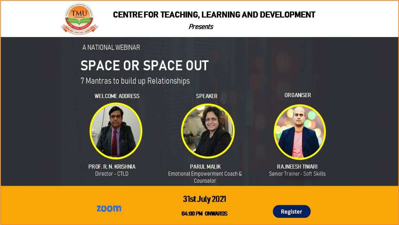"""National Webinar on """"Space or Space Out"""""""