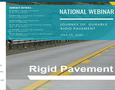 National Webinar on Journey of Durable Rigid Pavement