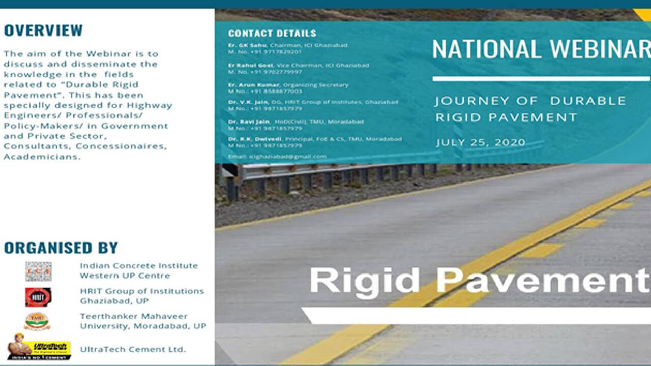 National Webinar on Journey of Durable Rigid Pavement