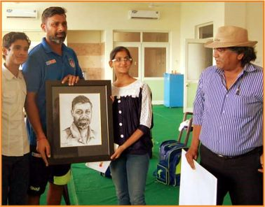 Portrait gifted to Indian Crickerter Mr. Praveen Kumar