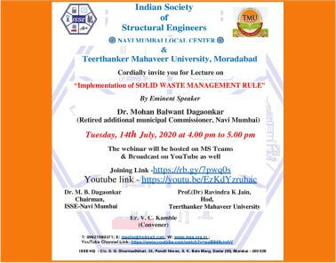 Implementation of Solid Waste Management Rules- Webinar